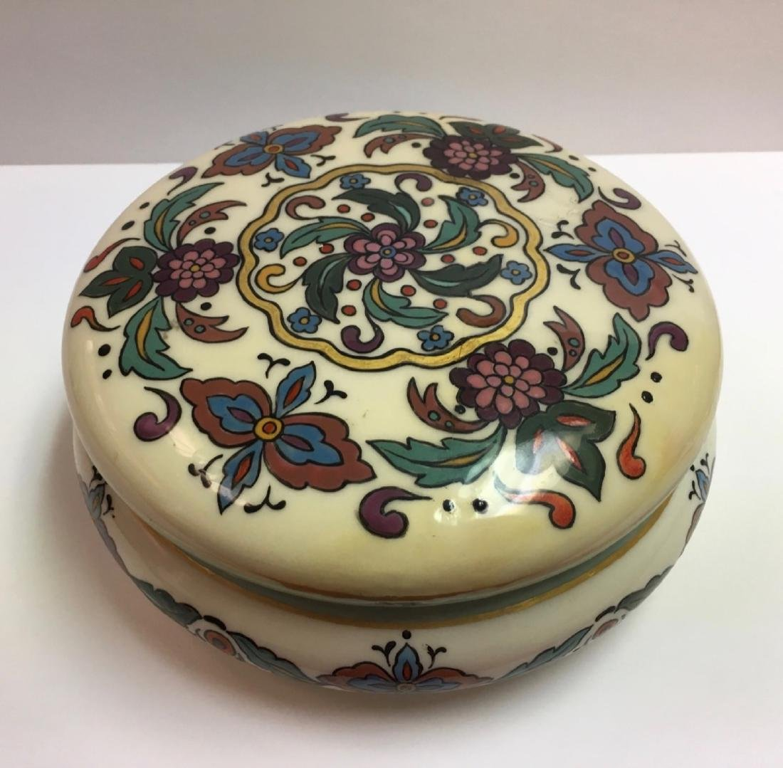 Antique Lenox Belleek Enameled Art Deco covered powder