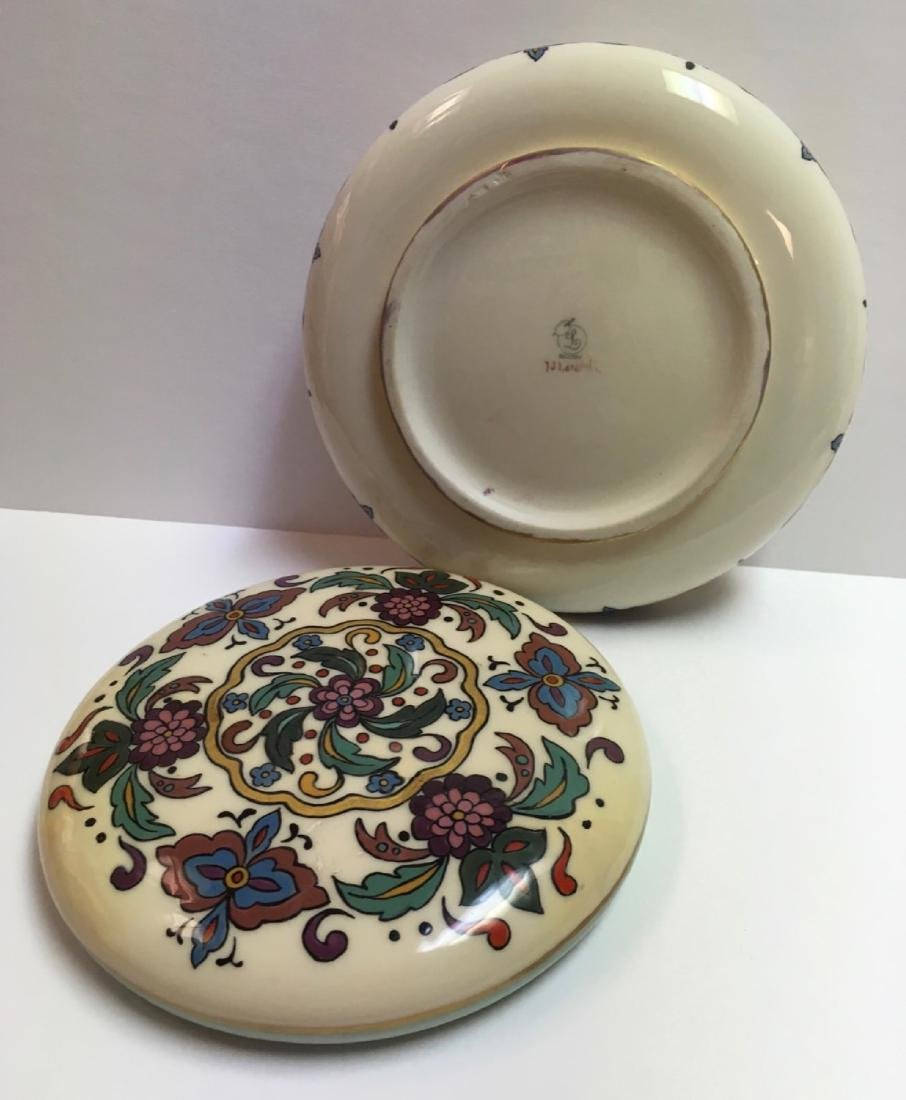 Antique Lenox Belleek Enameled Art Deco covered powder - 5