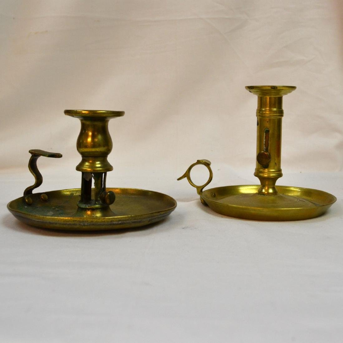 Pair Victorian Chamber Candlestick with Candle
