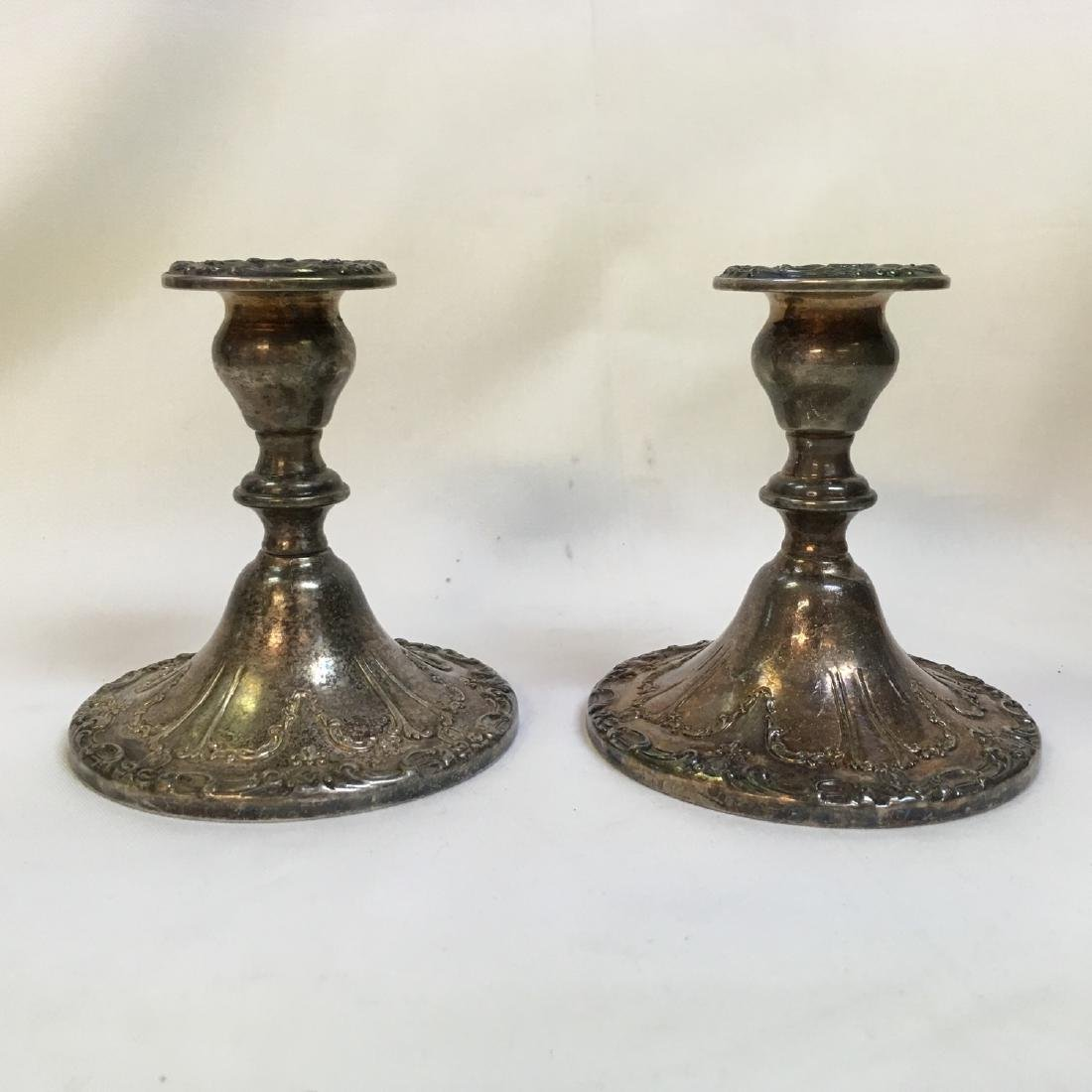 """Sterling Silver pair of Gorham Candlesticks """"Chantilly"""