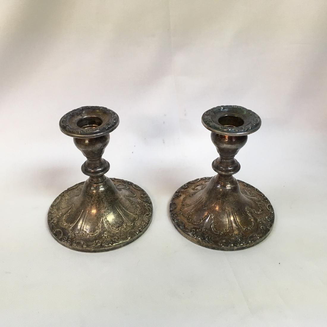 "Sterling Silver pair of Gorham Candlesticks ""Chantilly - 2"