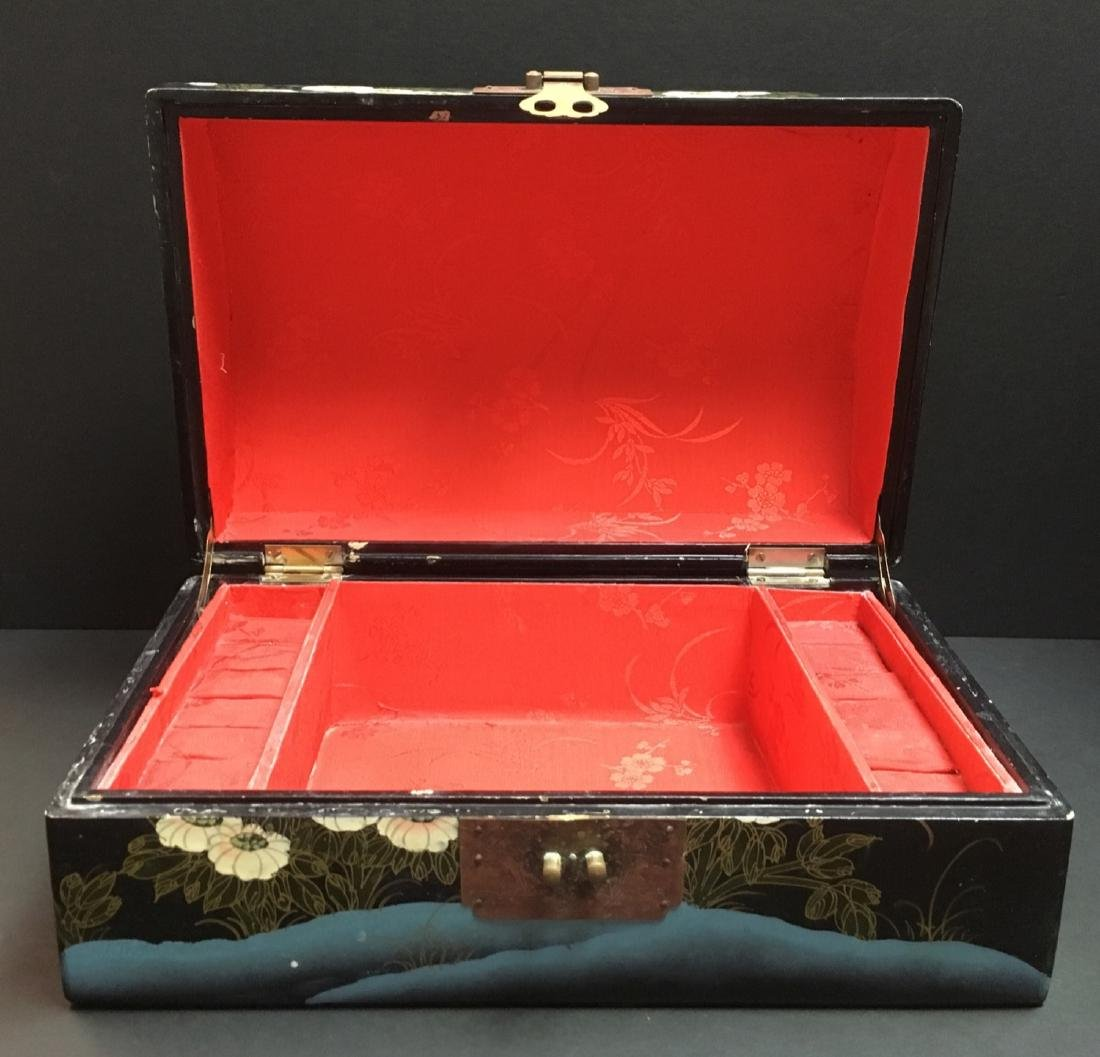 Fine Old VintageAsian hand painted Jewelry Box - 2