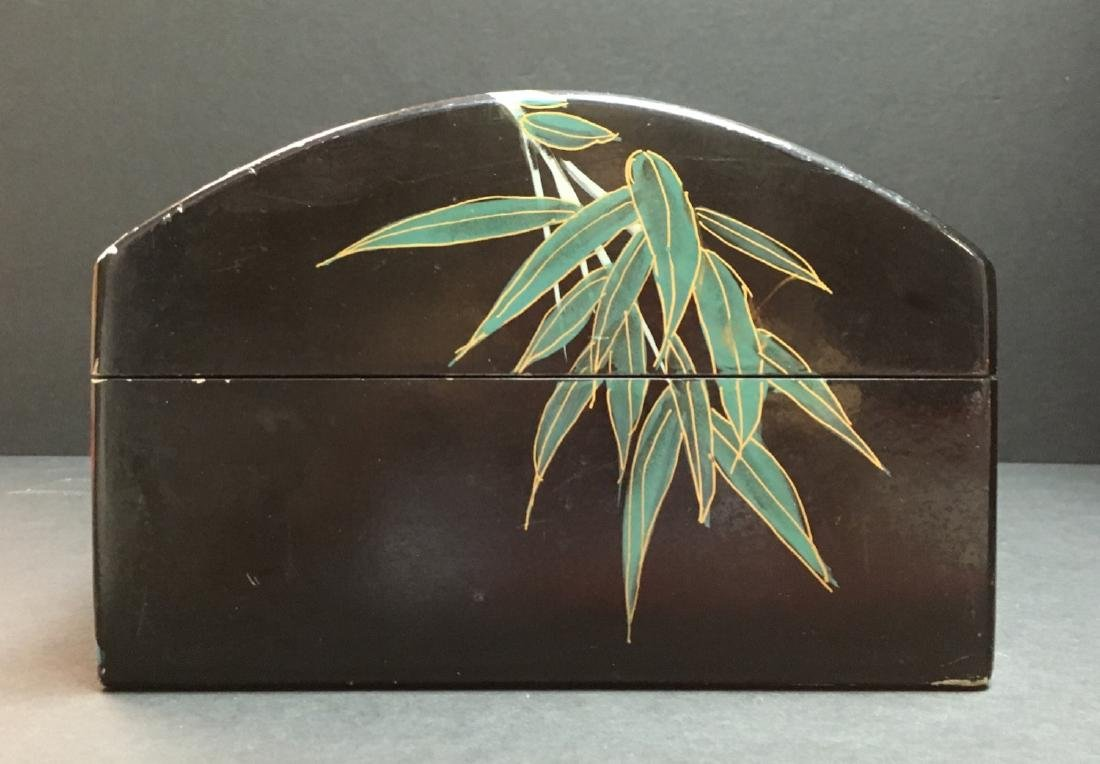 Fine Old VintageAsian hand painted Jewelry Box - 5