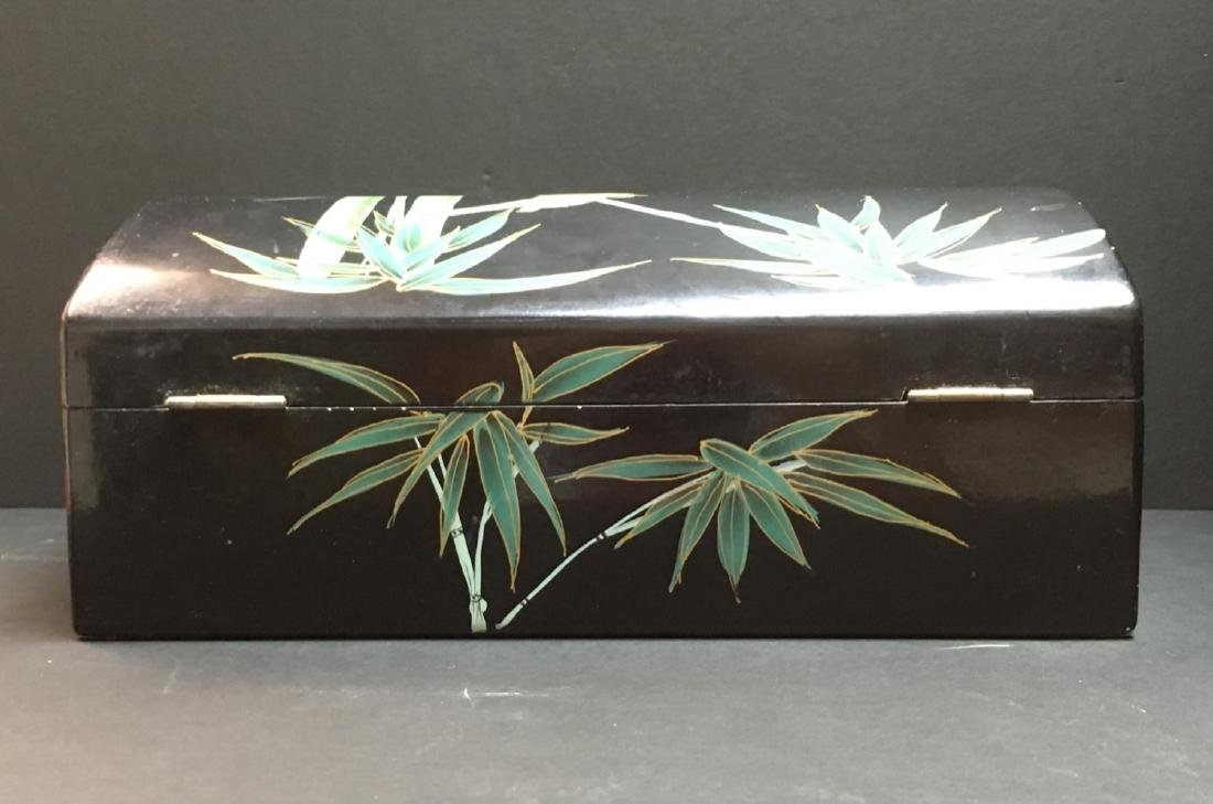 Fine Old VintageAsian hand painted Jewelry Box - 6