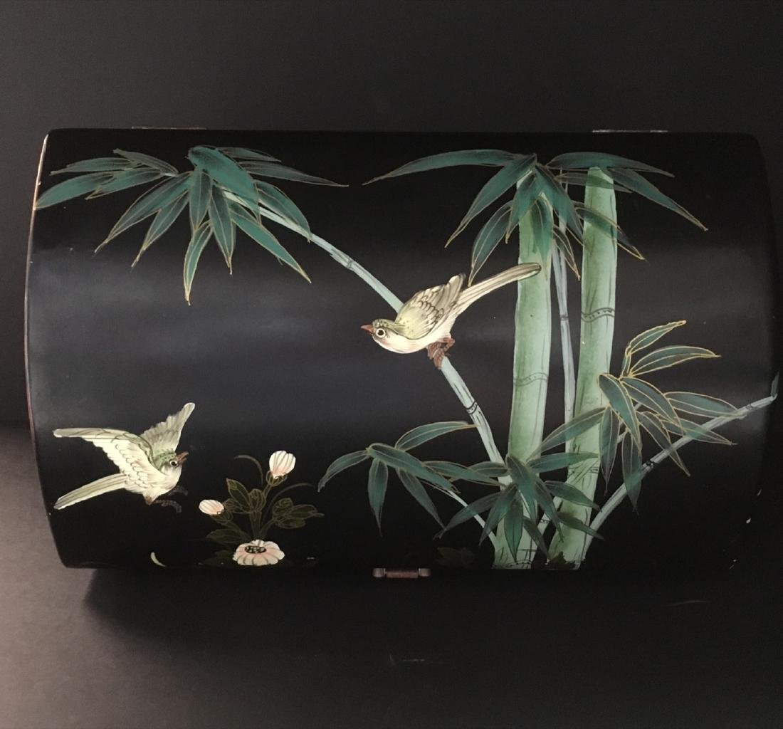 Fine Old VintageAsian hand painted Jewelry Box - 7