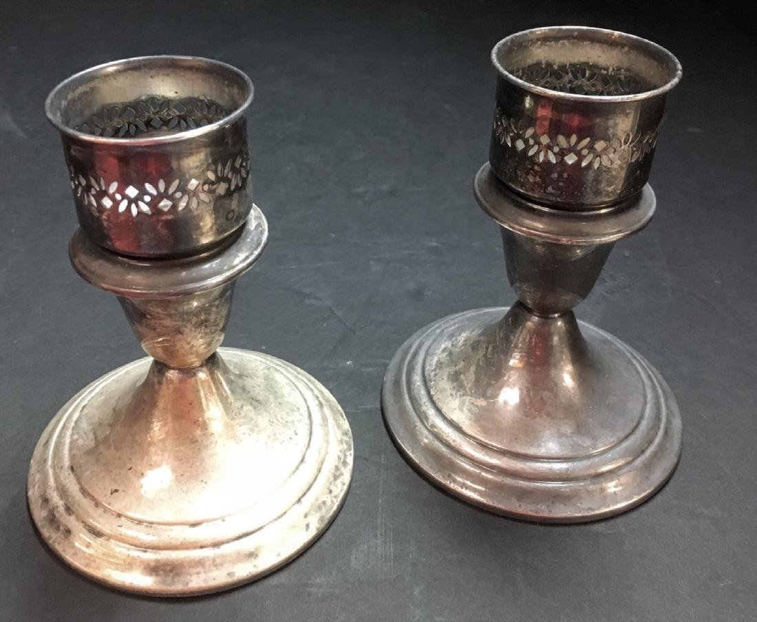 Gorham Vintage Silver plate  Candle Holder Set