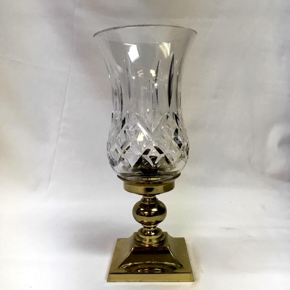 A Waterford Crystal Lismore Hurricane Lamp.