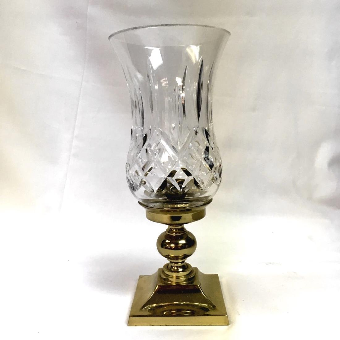 A Waterford Crystal Lismore Hurricane Lamp. - 2