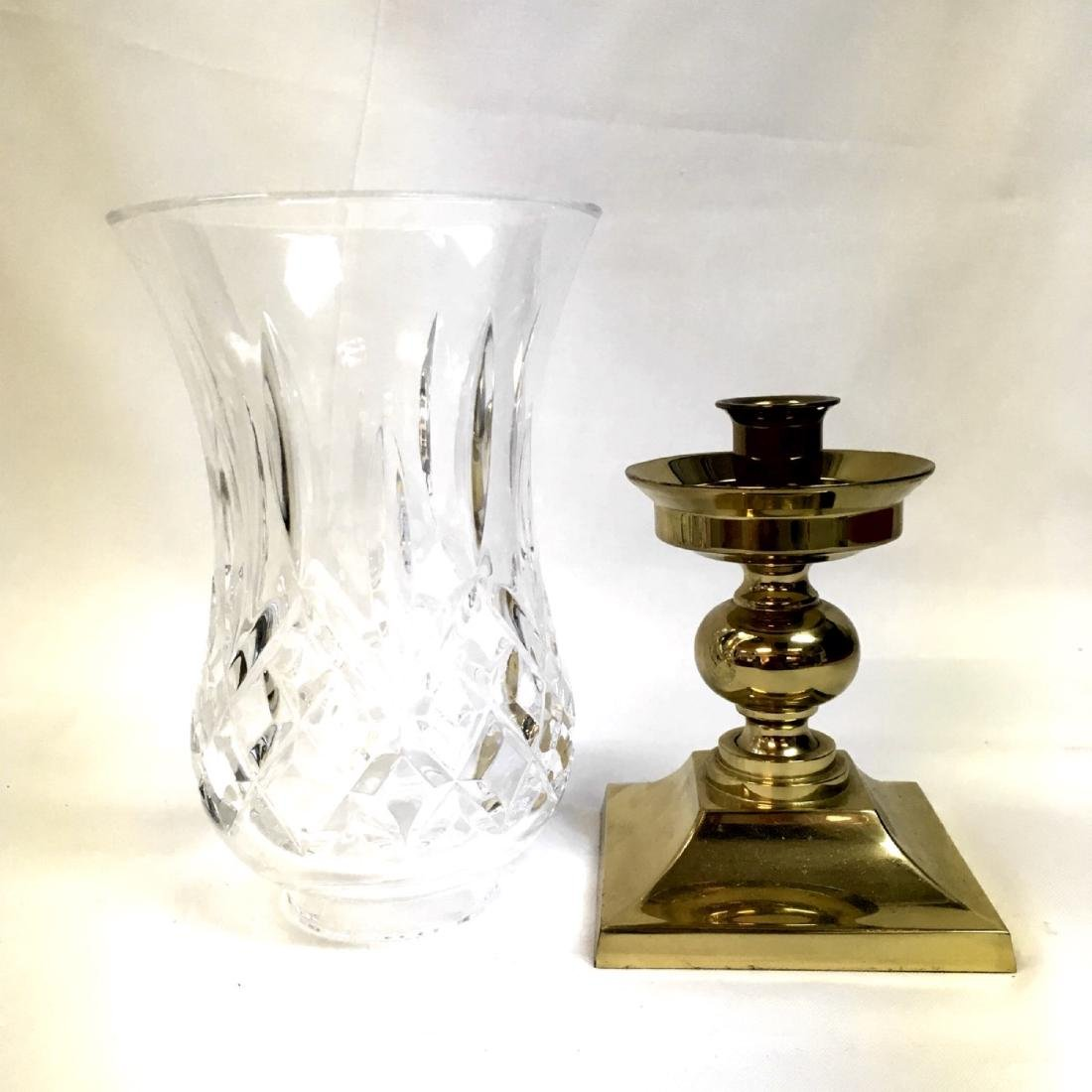 A Waterford Crystal Lismore Hurricane Lamp. - 3