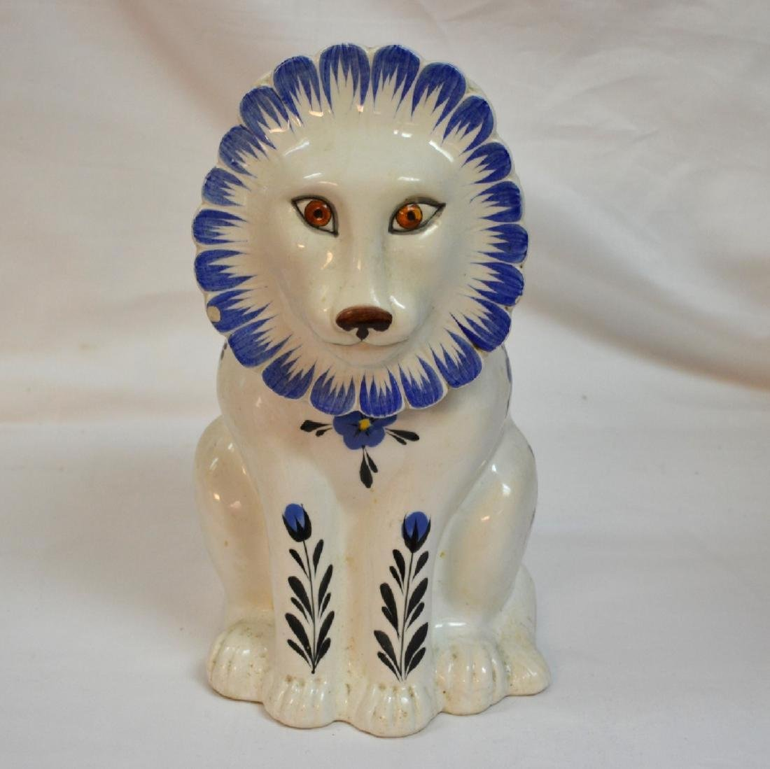 Mancer Ceramic Lion Cookie Jar . Made in Italy
