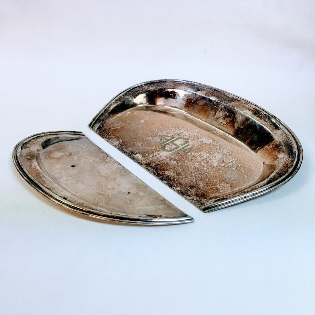 antique by Bernard Rice's Sons crumb tray two pieces