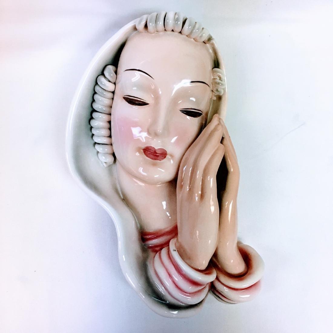 Huge Goldscheider Wall Mask Madonna designed by Adolf