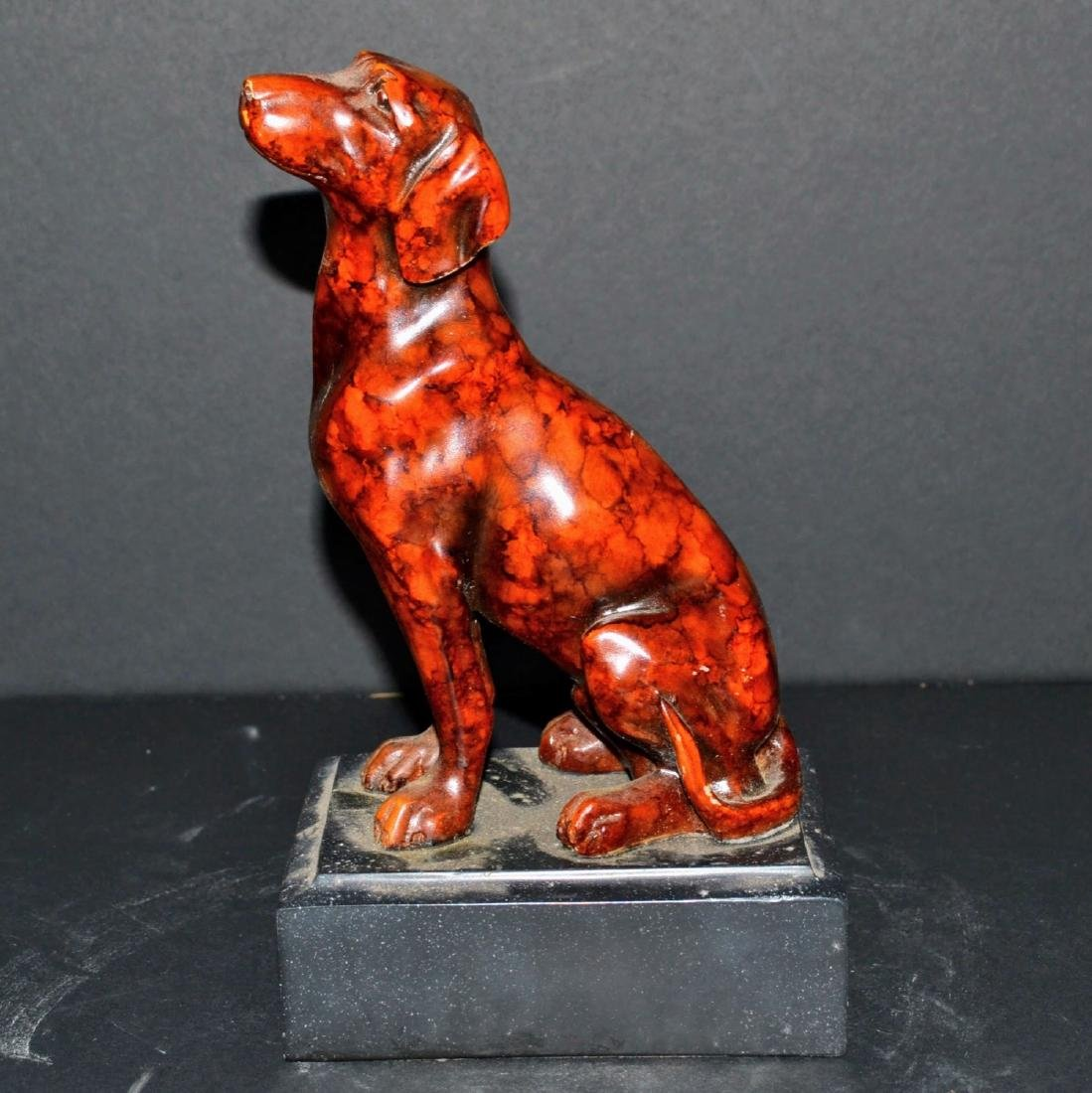 Vintage Sitting Dog Figure