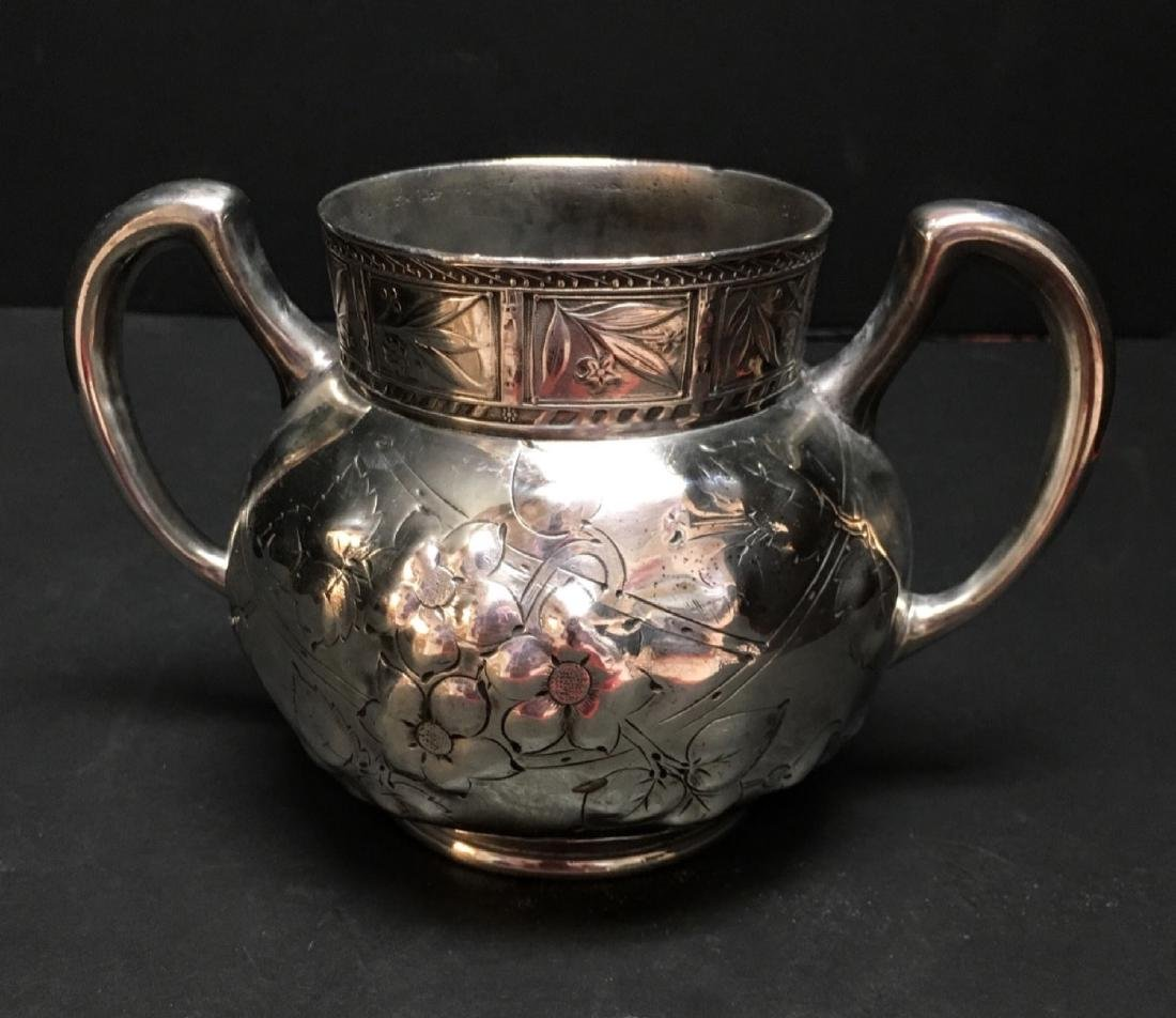 Antique MEAD AND ROBBINS TRIPLE PLATED vase