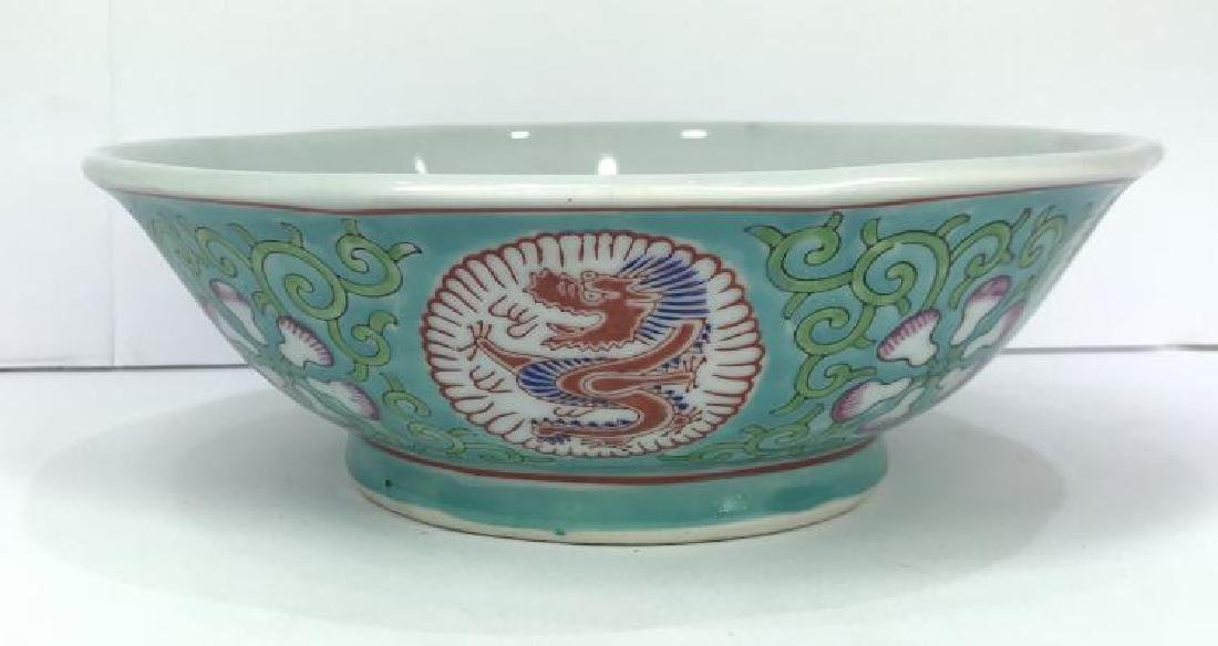 ANTIQUE-CHINESE QING GUANGXU TURQUOISE FAMILLE ROSE