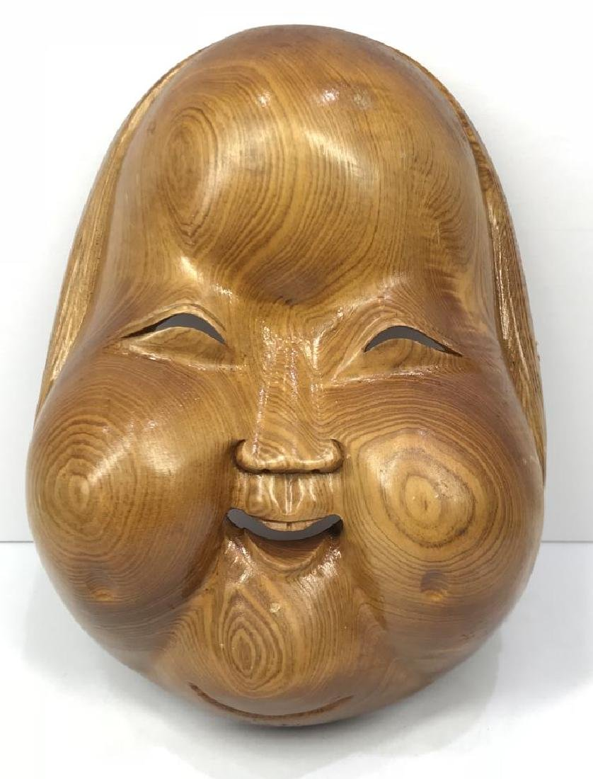 "ANTIQUE CHINESE WALNUT WOOD HAND CARVED "" BUDDHA"