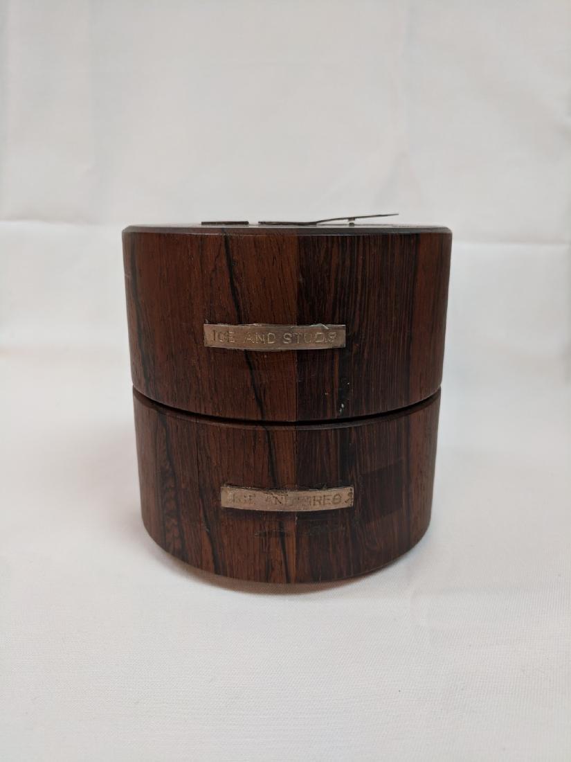 Vitange Rare  Meteorite in a rosewood box