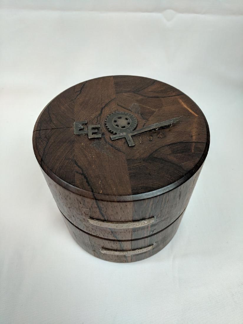 Vitange Rare  Meteorite in a rosewood box - 2