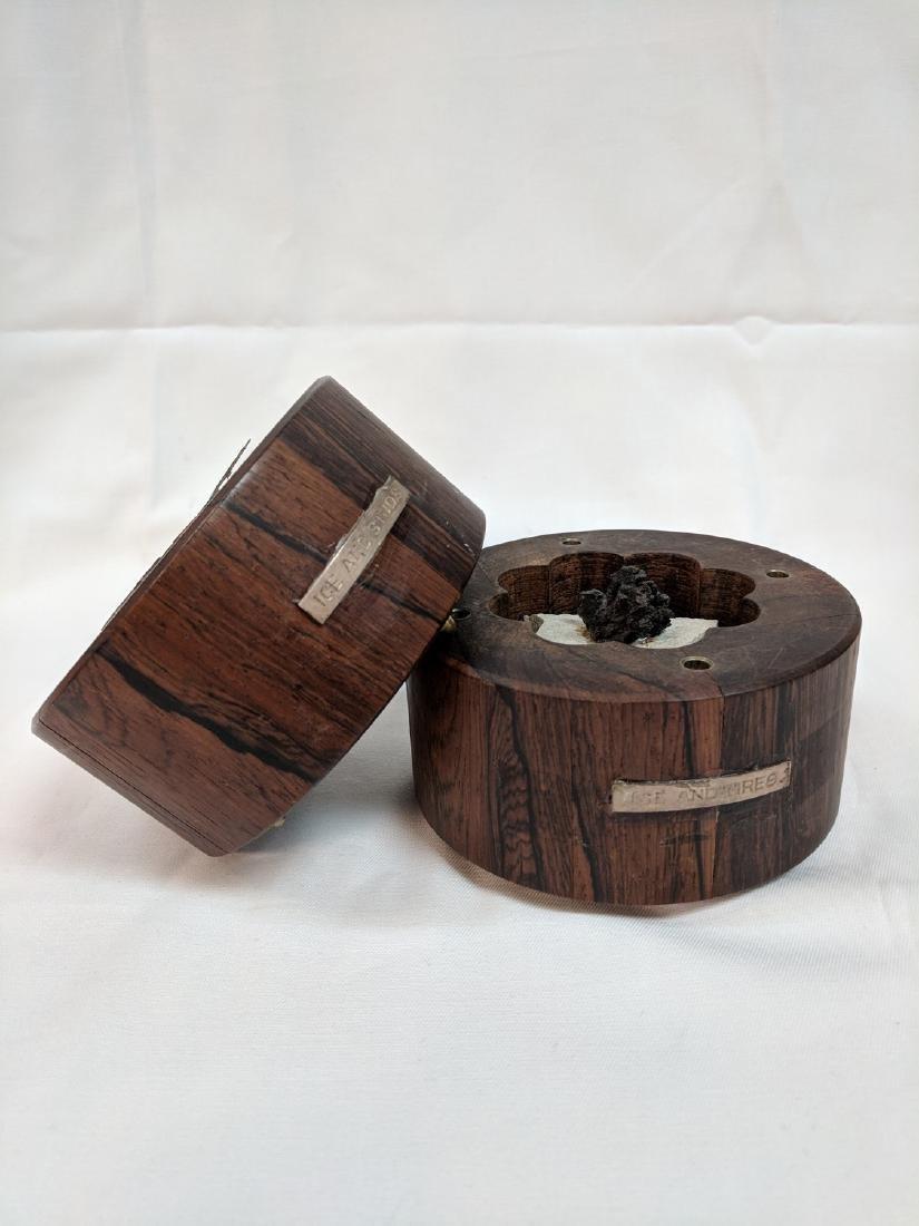 Vitange Rare  Meteorite in a rosewood box - 3