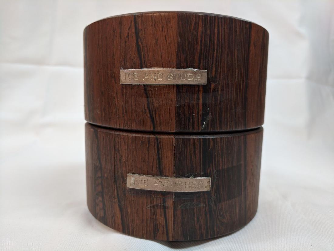 Vitange Rare  Meteorite in a rosewood box - 7