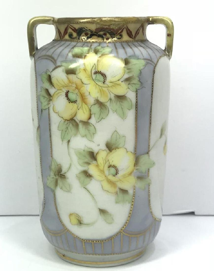 ANTIQUE HAND PAINTED NIPPON VASE