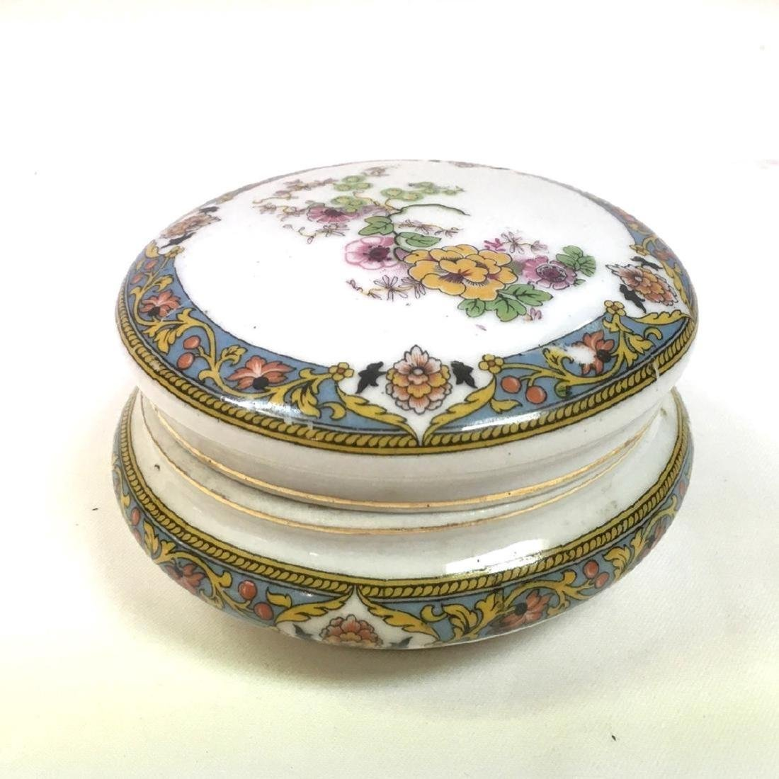 Antique Limoges French Porcelain Trinket Box signed
