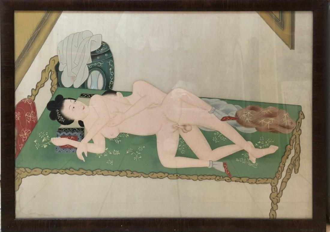 Vintage chinese erotic Unknown Artist