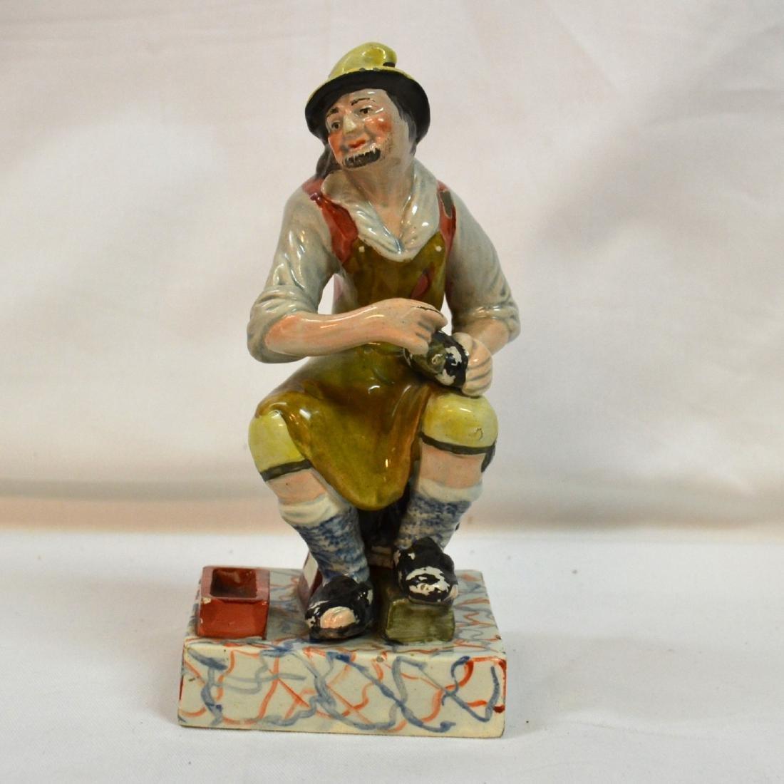 Vintage  Staffordshire Pottery Figure  Shoemaker