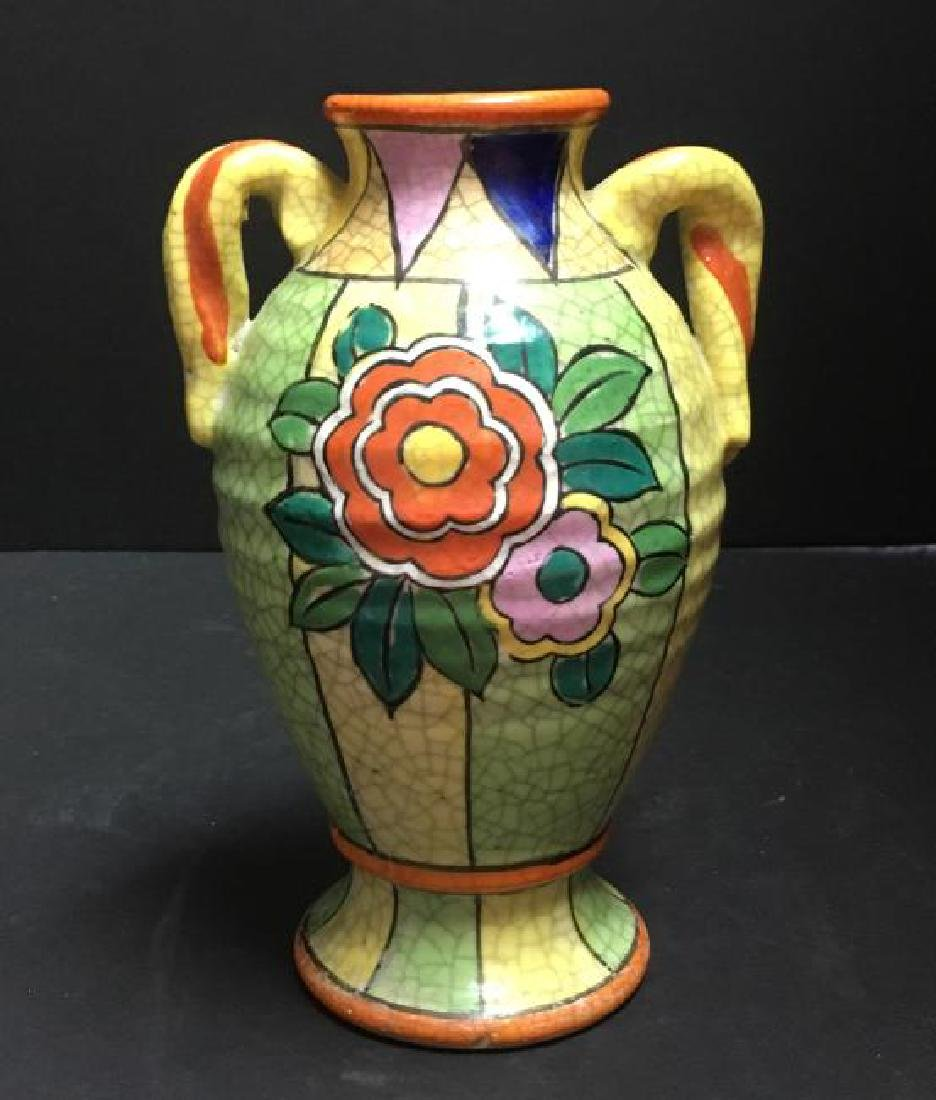 Vtg hand painted vase made in japan