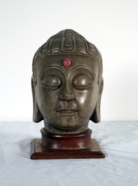 A Carved Head of Buddha