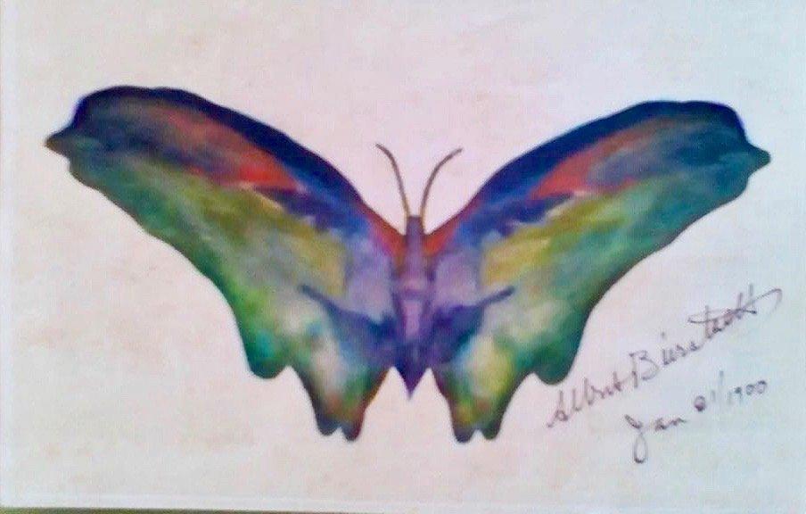 Albert Bierstadt  (1830 - 1902) Butterfly