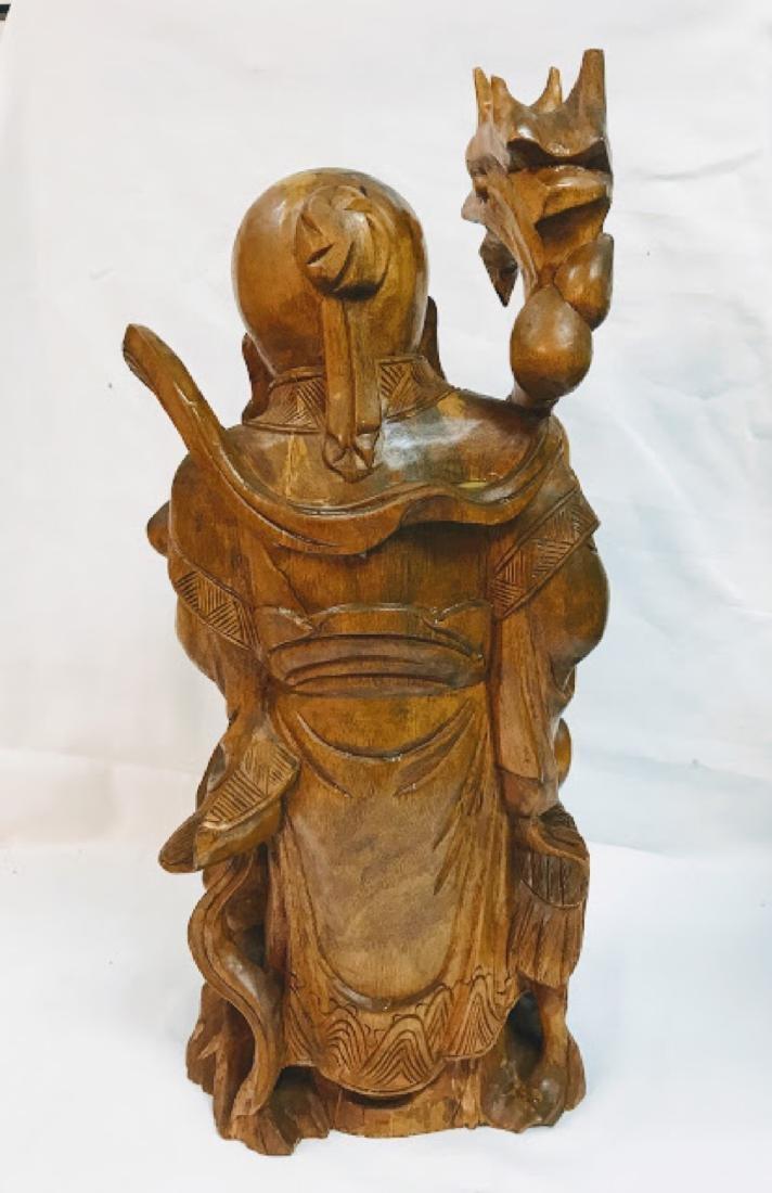 Chinese Vintage Wood Carving of Old Man - 5