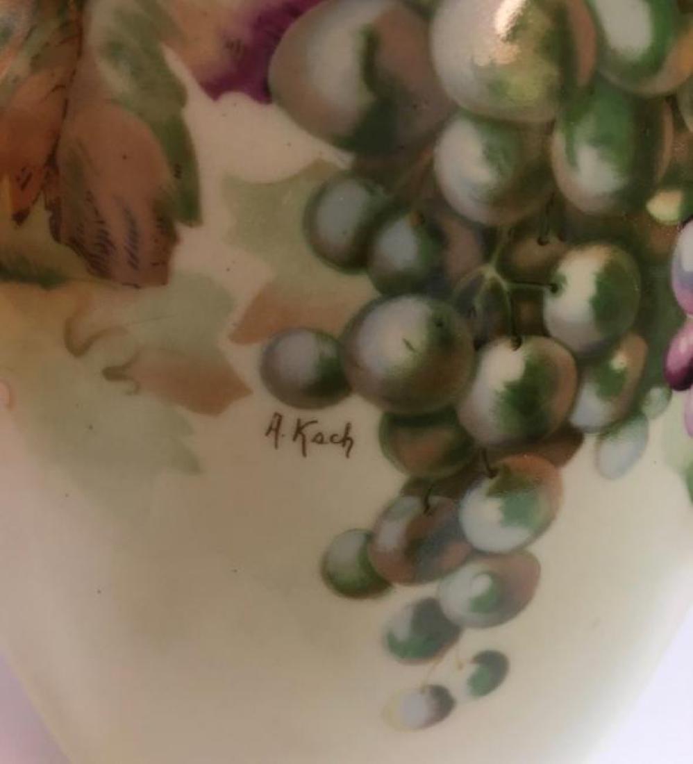 """Vintage Jaeger & Co Porcelain """"Fruit Motif"""" Urn - 5"""
