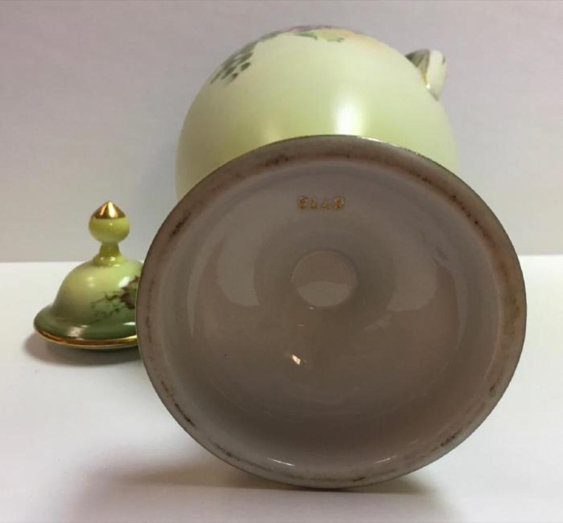 """Vintage Jaeger & Co Porcelain """"Fruit Motif"""" Urn - 6"""