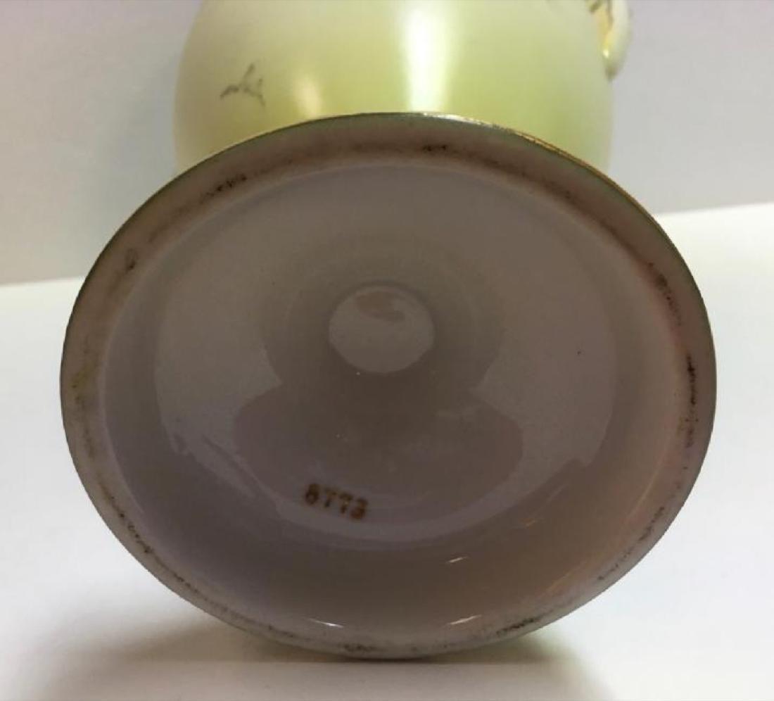 """Vintage Jaeger & Co Porcelain """"Fruit Motif"""" Urn - 7"""