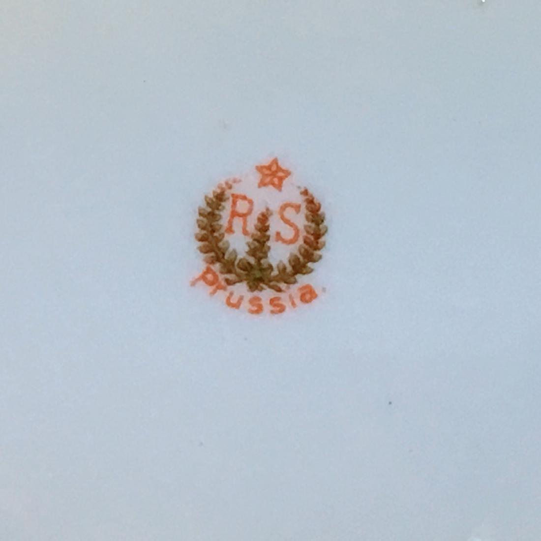 Antique RS Prussia Bowl, Mold Floral design of light - 5