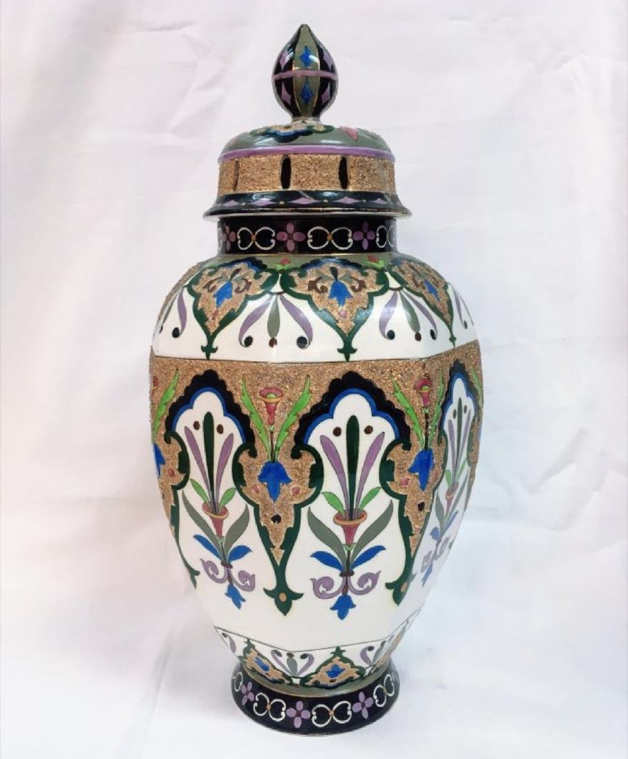 Vitange French Art Nouveau Art Pottery Vase