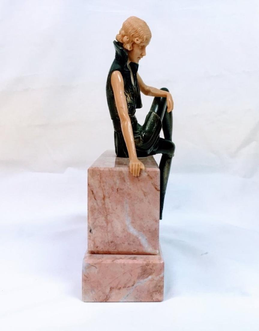 GIRL ON THE WALL': AN ART DECO FIGURE - 2