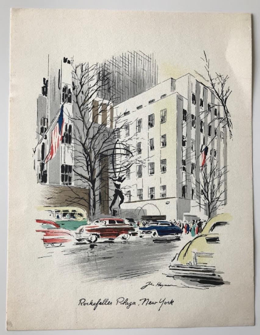 Signed Watercolor Prints by John Haymson