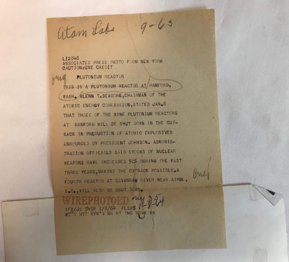 Vintage Press Photo, Associated Press , info on back of - 3