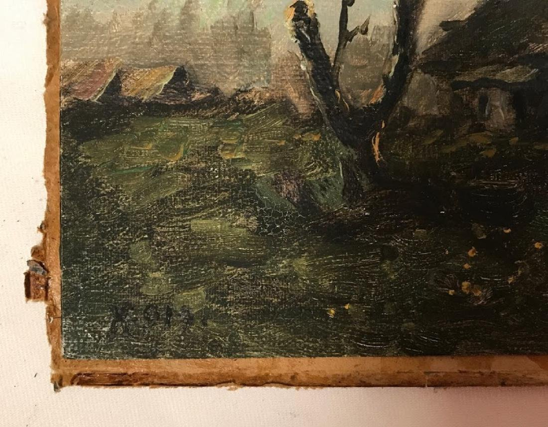 Antique 19 century Russian painting signed monogrant - 2