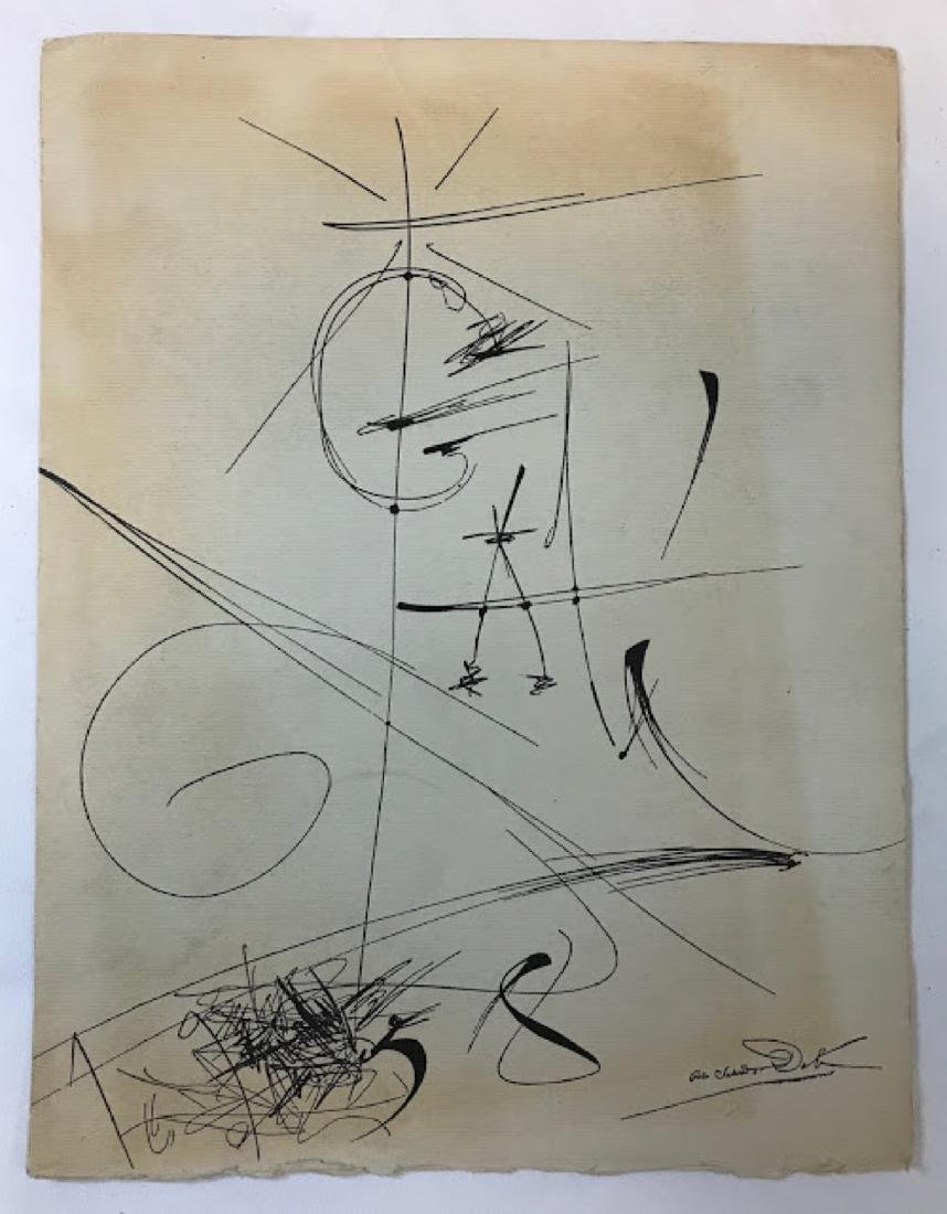 Original ink on paper signed Salvador Dali 1958