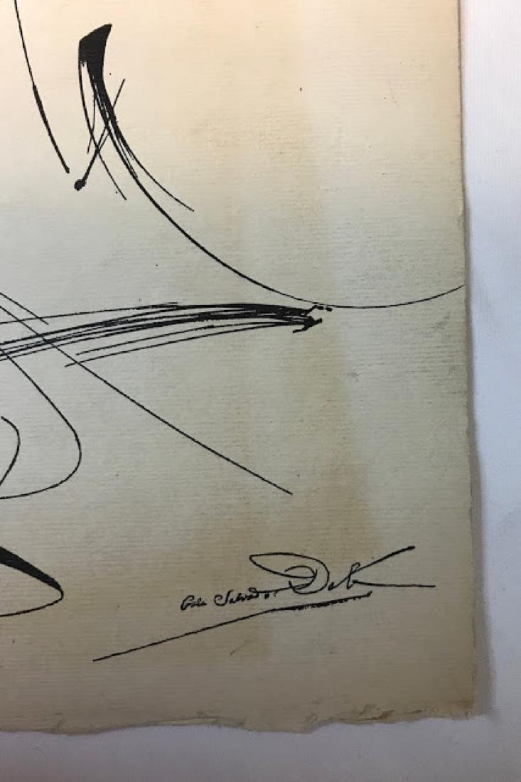Original ink on paper signed Salvador Dali 1958 - 2