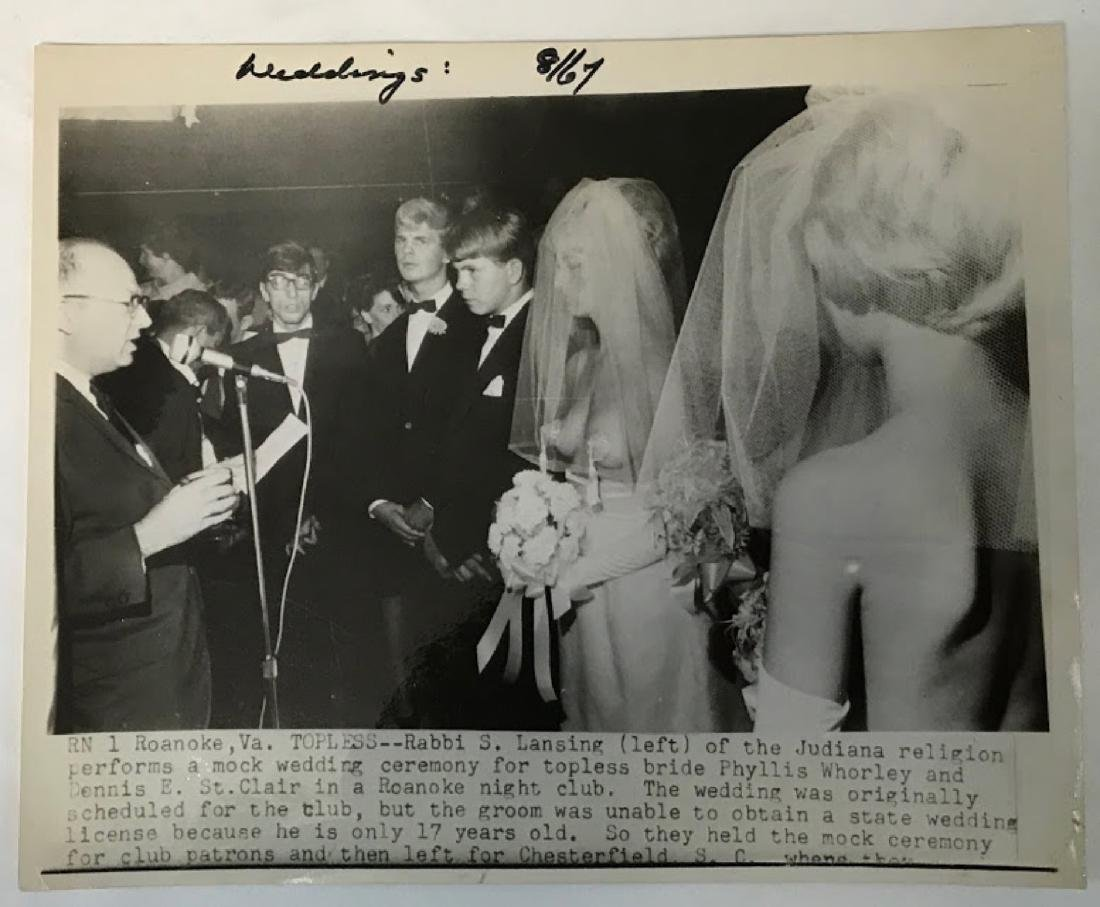 Vintage Press Photo, Associated Press , info on back of