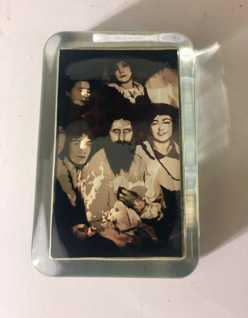 VINTAGE RUSSIAN  PAPERWEIGHT RASPUTIN PHOTO