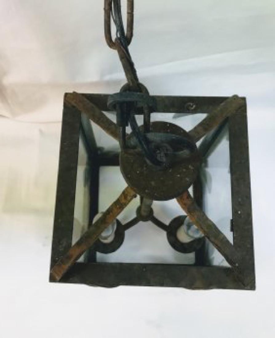 Antique  English Victorian Painted Cast Iron  Lantern - 3