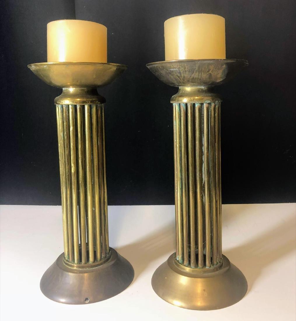 Vintage pair Brass Candelabra's Mid century