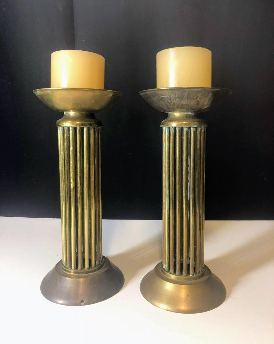 Vintage pair Brass Candelabra's Mid century - 2