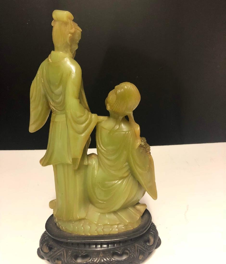 Antique Chinese Carved Soapstone Figure - 4
