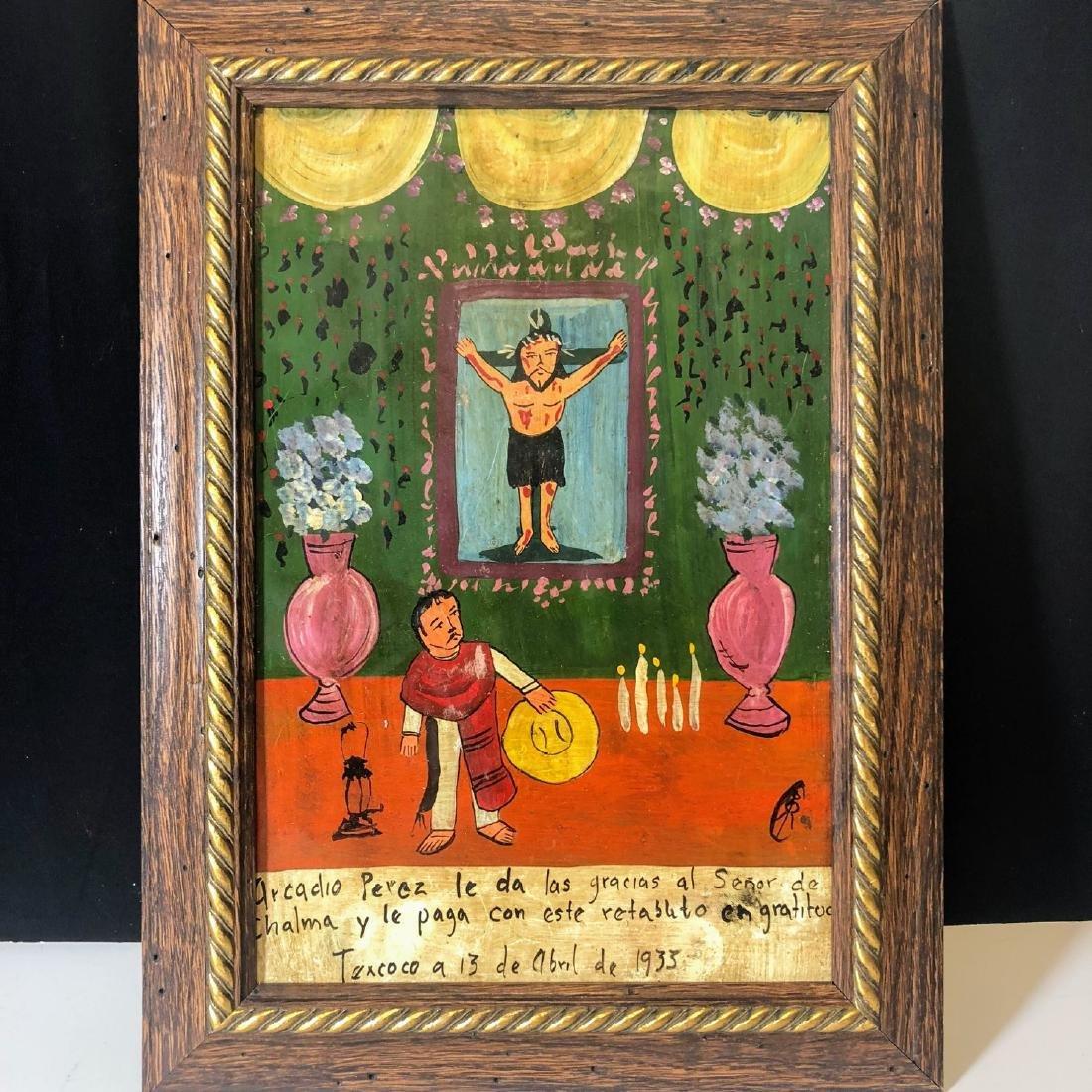 Vintage Votive paintings of Mexico, Original Religious